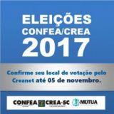 Eleições Confea/Creas 2017: Confirme  seu local de votação até 5.11 via Creanet
