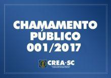 CHAMAMENTO PÚBLICO 001/2017
