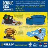 Campanha conscientiza para a��es de combate ao mosquito da dengue