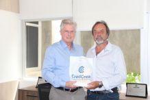 Engenheiro Ari Neumann recebe diretoria da CredCrea