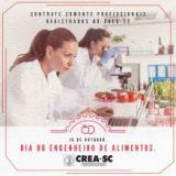 16 de outubro: Dia do Engenheiro de Alimentos