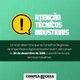 ATENÇÃO TÉCNICOS INDUSTRIAIS