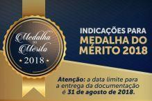 Prazo para indicações à Medalha e ao Livro do Mérito Catarinense vai até 31.08