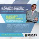 Nova lei das Estatais: palestra gratuita no CREA-SC dia 26.06