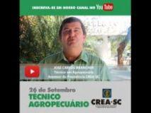 26 de Setembro: Confira o v�deo em homenagem ao Dia do T�cnico em Agropecu�ria