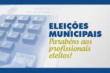 Elei��es municipais: parab�ns aos profissionais eleitos