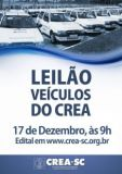AVISO DE LICITA��O - LEIL�O P�BLICO DE VE�CULOS DO CREA-SC 002/2015